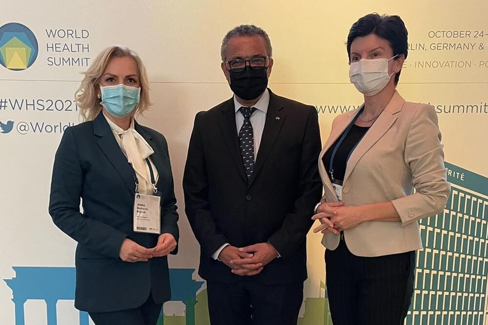 BOROVINIĆ BOJOVIĆ: Generalni sekretar Svjetske zdravstvene organizacije dolazi u CG