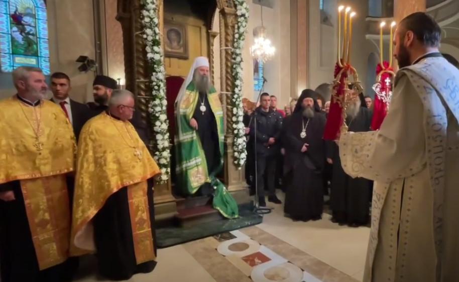 VJERNI NAROD DOČEKAO POGLAVARA SRPSKE PRAVOSLAVNE CRKVE Patrijarh Porfirije stigao u Sarajevo!